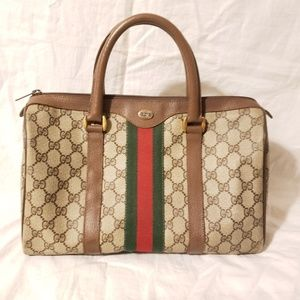 Authentic Gucci vintage gg canvas satchel